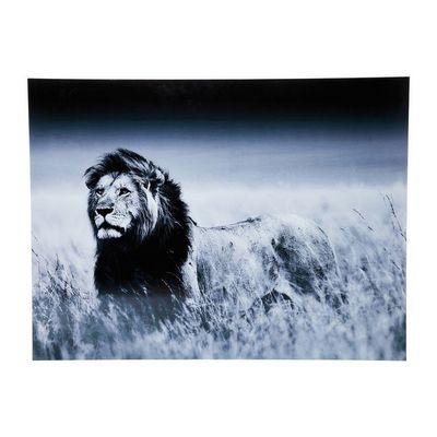 Kare Design - Tableau décoratif-Kare Design-Tableau en Verre Lion King Standing 120x160