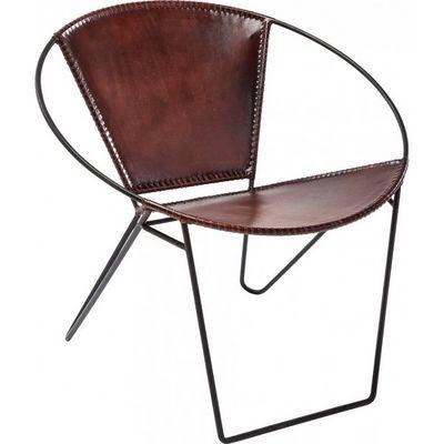 Kare Design - Fauteuil-Kare Design-Fauteuil Rond Bucket marron