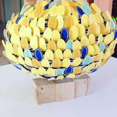 MILLIE BAUDEQUIN - Lampe à poser à LED-MILLIE BAUDEQUIN-Olea (moyenne)