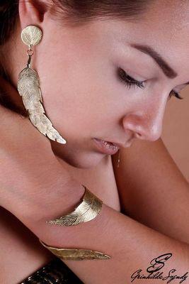 SZENDY GRINHILDA - Parure de bijoux-SZENDY GRINHILDA-Feuilles
