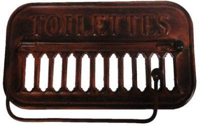 Antic Line Creations - Porte-papier hygiénique-Antic Line Creations-Support papier toilette ancien métal rouille