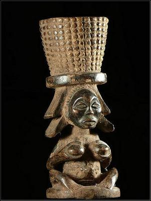 Arts Africains - Mortier-Arts Africains-Mortier a chanvre ou tabac