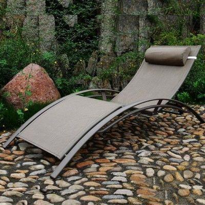 LE RÊVE CHEZ VOUS - Bain de soleil-LE RÊVE CHEZ VOUS-Chaise longue - Bain de soleil aluminium et textil