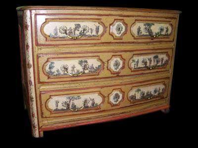 Le Grand Chêne Antic - Anduze - Commode-Le Grand Chêne Antic - Anduze-COMMODE LOUIS XIV EN ARTE POVERA