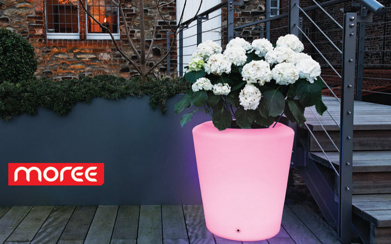 Moree Illuminated pot Bollard lights Lighting : Outdoor Balcony-Terrace | Eclectic