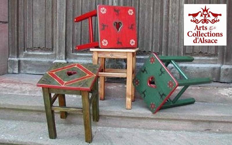 Arts Et Collections d'Alsace Stool Footstools and poufs Seats & Sofas    Cottage