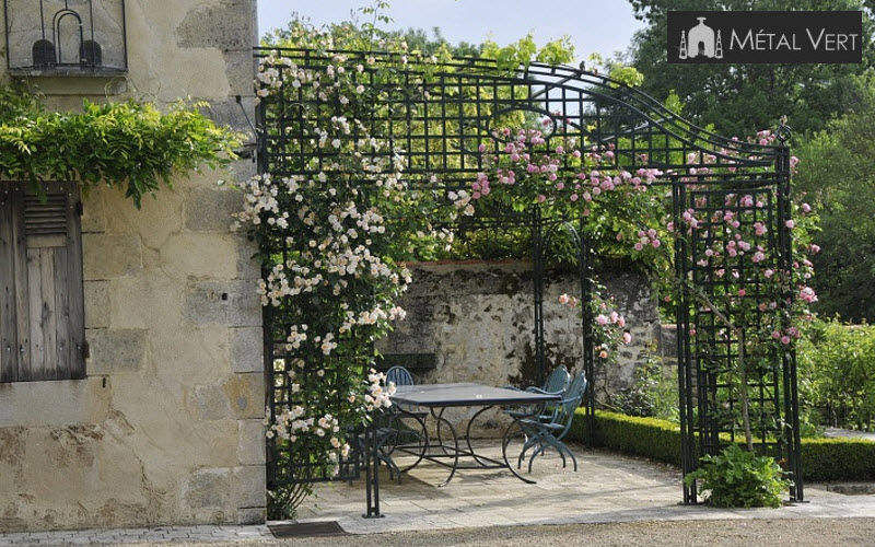 METAL VERT Pergola Huts and gazebos Garden Gazebos Gates... Balcony-Terrace | Cottage