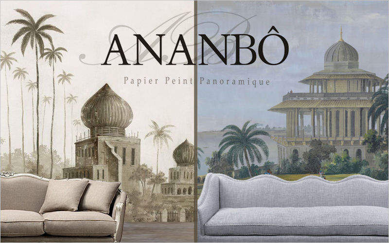 Ananbô Panoramic wallpaper Wallpaper Walls & Ceilings Living room-Bar | Classic
