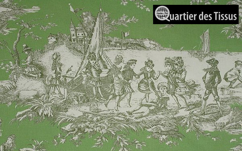 toile de jouy print material furnishing fabrics
