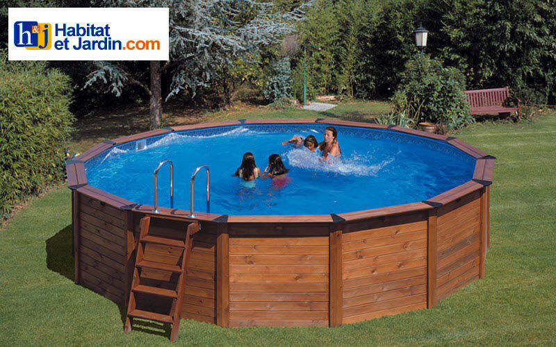 Habitat Et Jardin Wood surround above-ground pool Swimming pools Swimming pools and Spa  |