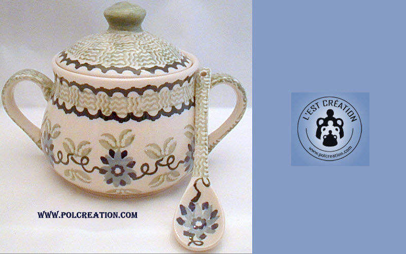 CERAMIQUE POLONAISE Sugar bowl Pots Crockery  |