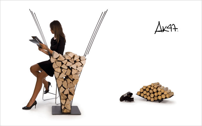 Ak47 design Log carrier Fireside accessories Fireplace  |