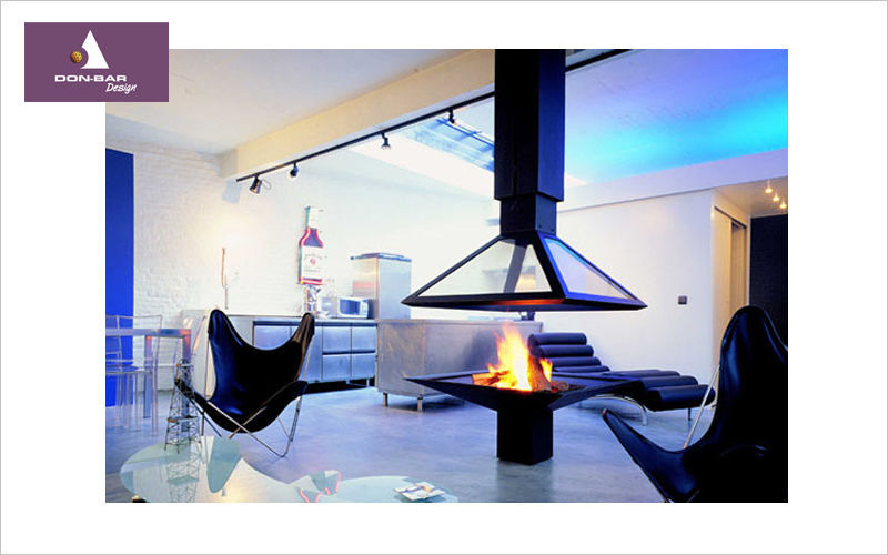Don-Bar Design Central fireplace Fireplaces Fireplace Living room-Bar | Design Contemporary