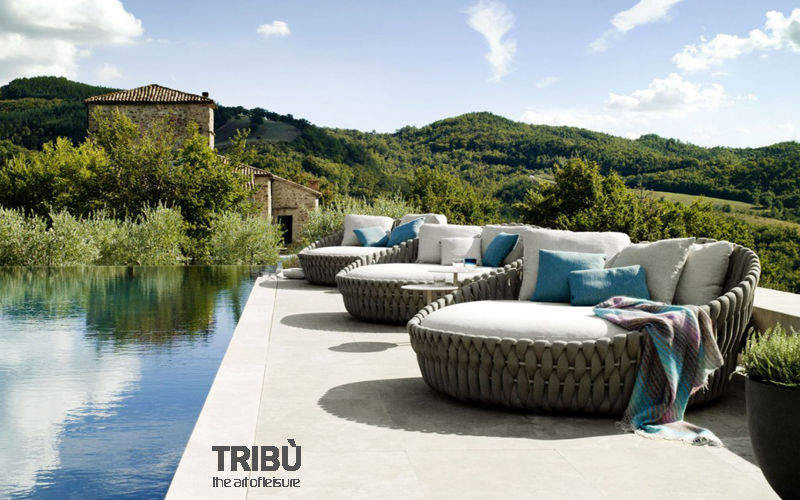 Tribù Sun lounger Garden chaises longues Garden Furniture  |
