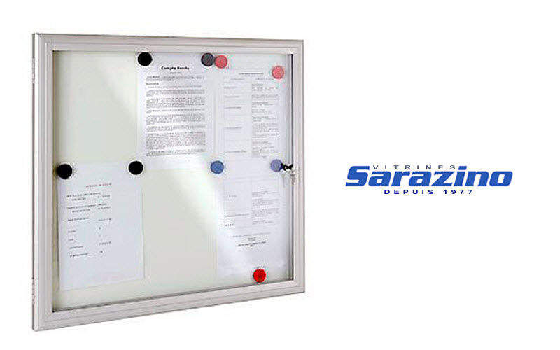 VITRINES SARAZINO Glass notice board Pro display cabinet Tables and Misc.  |