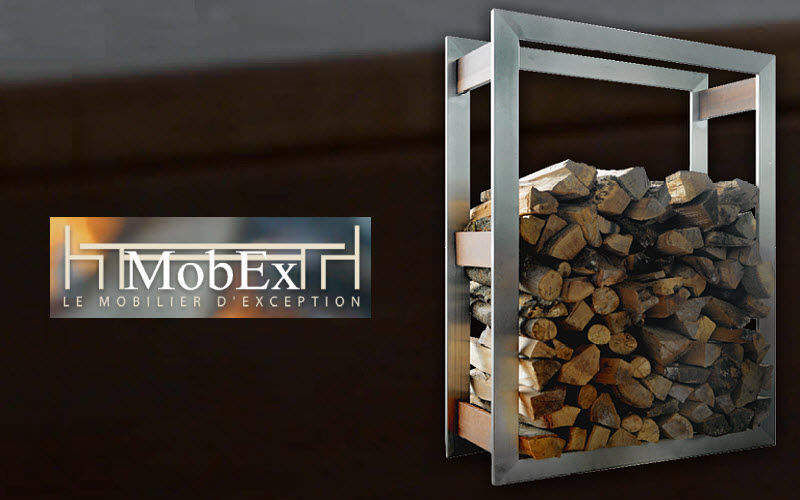 MOBEX / Le Mobilier d'Exception Log carrier Fireside accessories Fireplace  |