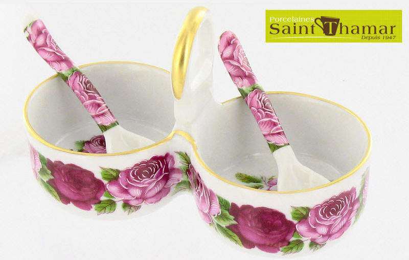 Porcelaines Saint-Thamar Saltcellar and pepperpot Condiments Tabletop accessories  |