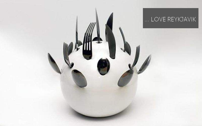 ... LOVE REYKJAVIK Cutlery container Preserves (Containers-Pots-Jars) Kitchen Accessories Kitchen | Eclectic
