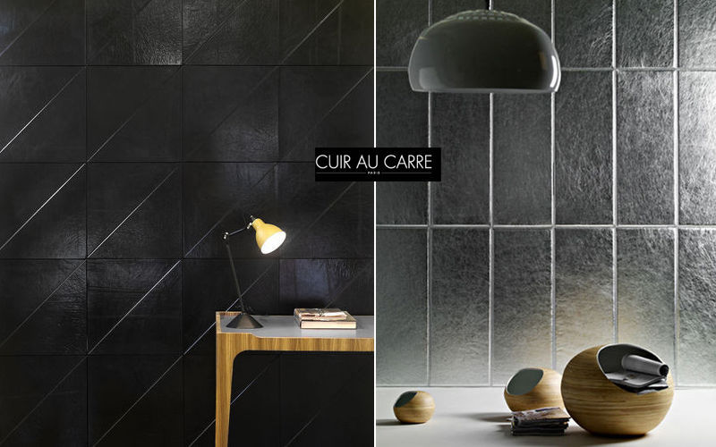 CUIR AU CARRE Leather tile Alternative wall surfaces Walls & Ceilings  |