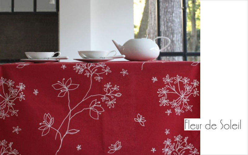 FLEUR DE SOLEIL Coated tablecloth Tablecloths Table Linen  |