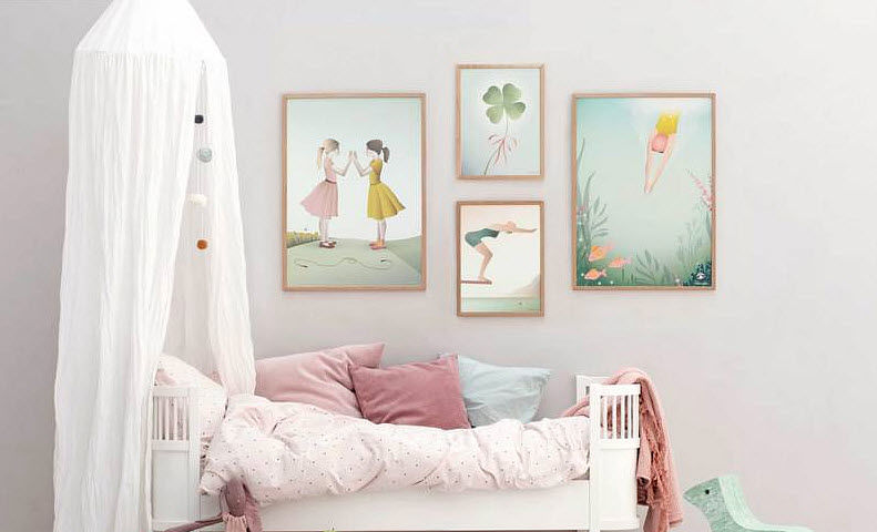 VISSEVASSE Children's picture Children's decoration Children's corner  |
