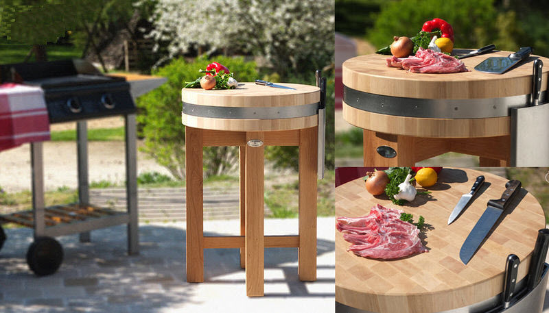 LES BILLOTS DE SOLOGNE Butchers' block Chopping blocks & stands Kitchen Equipment Garden-Pool | Cottage