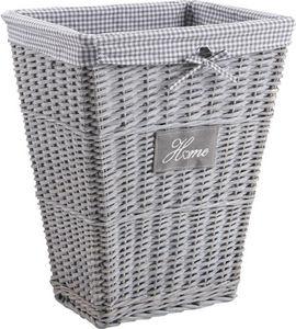 Aubry-Gaspard - panier à linge home en osier et coton - Laundry Hamper