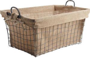 Aubry-Gaspard - corbeille à bûches en métal et tissu - Log Carrier