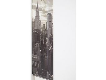 WHITE LABEL - classeur à rideaux blanc - curtain n°1 - l 38 x l - Side Tambour Cupboard