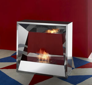 Flueless burner fireplace