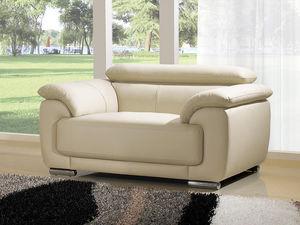 WHITE LABEL - fauteuil cuir marjorie - Armchair