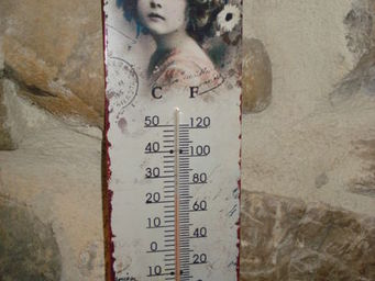 au petit coeur d'amour - fillette - Thermometer