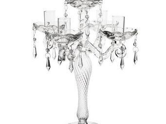 Maisons du monde - bougeoir 5 branches verre - Candlestick