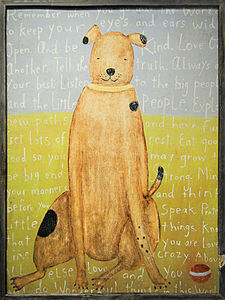 Sugarboo Designs - art print - large brown boy dog - Decorative Painting