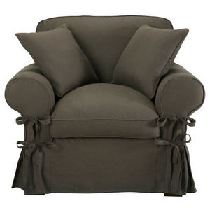 Maisons du monde - fauteuil lin taupe grisé butterfly - Armchair