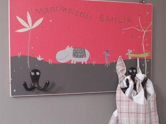 ICI LA TERRE - patère enfant double pampa pinki - Children's Clothes Hook