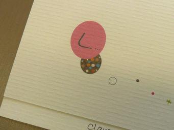 ICI LA TERRE - faire part de naissance fille rose osaka - Birth Announcement Card