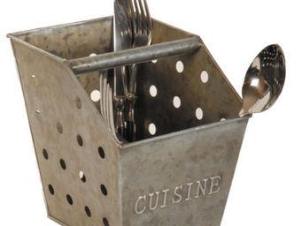 Antic Line Creations - range couverts cuisine en zinc 13,3x18x16cm - Cutlery Tray