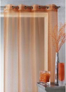 HOMEMAISON.COM - voilage organza à fines rayures horizontales - Net Curtain