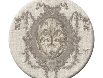 Mathilde M - badge grand modèle médaillon lys - Badge Button