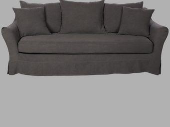 BLANC D'IVOIRE - balthus gris - 3 Seater Sofa