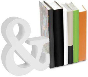 Balvi - serre-livres and blanc en bois 22,5x19x5cm - Book End