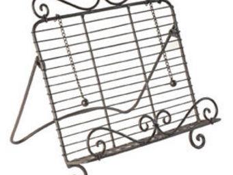 Antic Line Creations - lutrin de cuisine antique 32x8x34cm - Book Stand