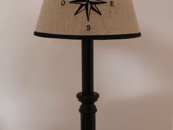 Abat-jour - conique 20 cm lin brodé - Embroidered Lampshade