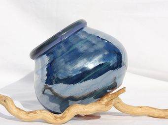 Les Poteries Clair de Terre - tirelire - Decorative Vase