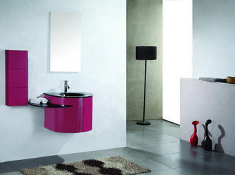 UsiRama.com - meuble salle de bain design rose 60cm - Bathroom Furniture