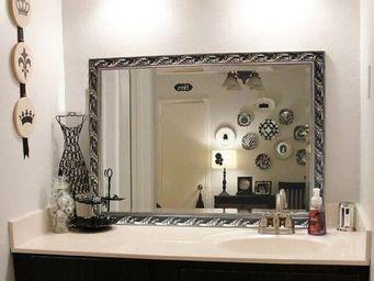 UsiRama.com - miroir sdb baroque sculpture suir bois sculp6 - Shower Mirror