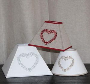 Abat-jour - abat-jour brodé - Embroidered Lampshade
