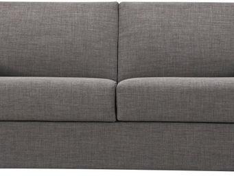 WHITE LABEL - canapé convertible 2 places coloris gris clair - 2 Seater Sofa