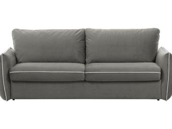 WHITE LABEL - canapé fixe linus 2-3 places gris clair - 2 Seater Sofa